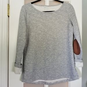 Tops - Sweatshirt with back buttons and elbow patches